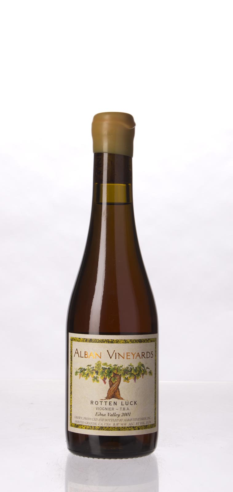 Alban Vineyards Viognier TBA Rotten Luck 2001, 375mL () from The BPW - Merchants of rare and fine wines.