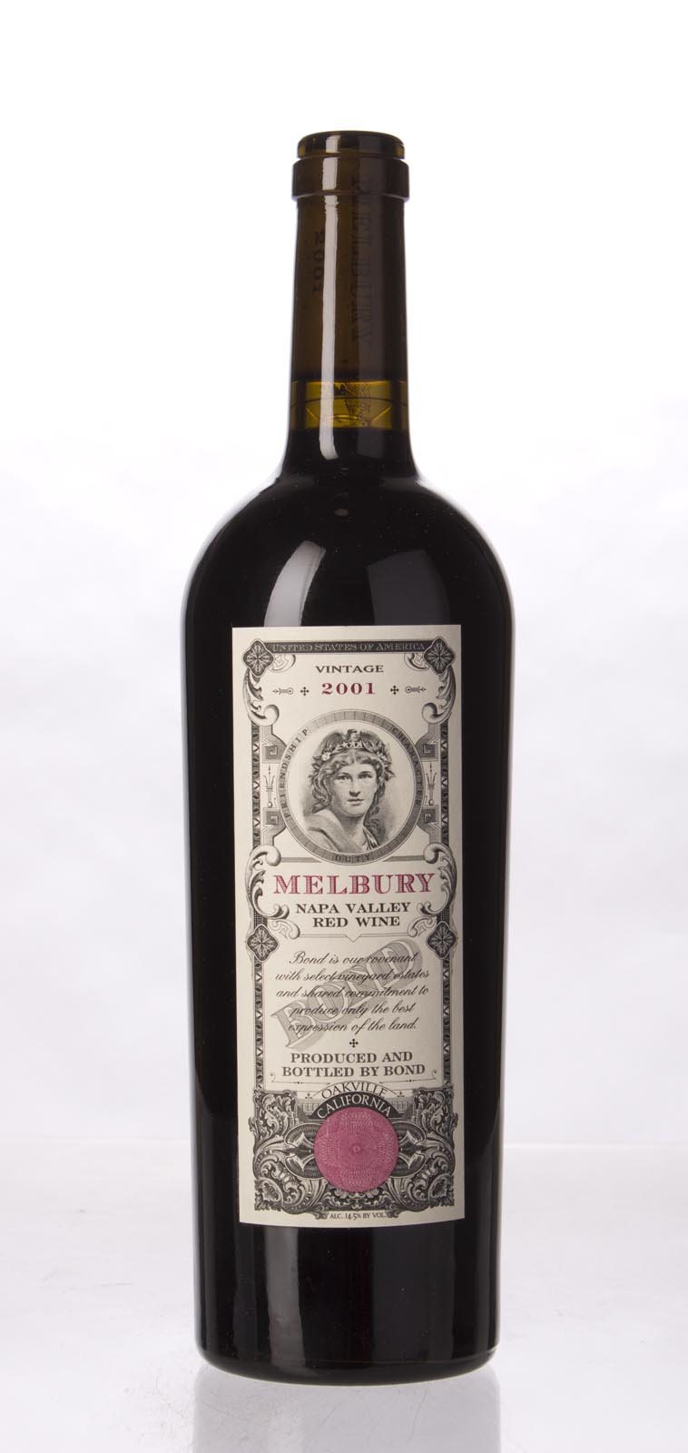 Bond Melbury 2001, 750mL (WA98+) from The BPW - Merchants of rare and fine wines.