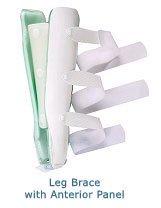 Air Leg Brace with Anterior Panel