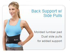 Breg Back Support with side pulls