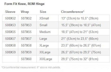 Ossur Form Fit ROM Knee Brace
