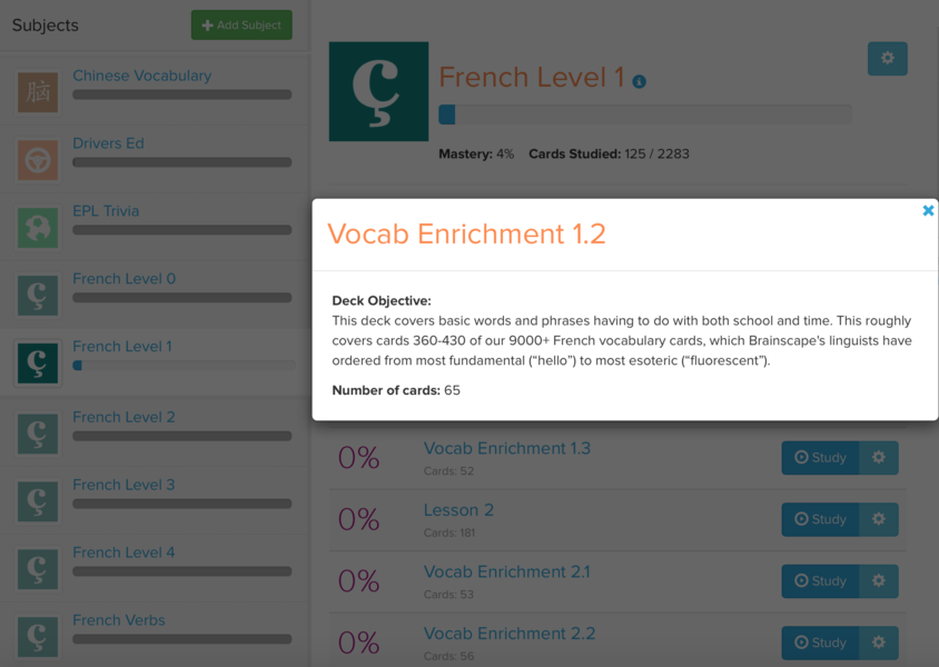 French Flashcards - Learn Basic Vocab & Verbs Online