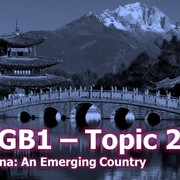 1GB1 Topic 2b China. GCSE Geography.