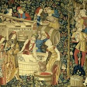 Iphone 3x retina medieval pesant tapestry off1116