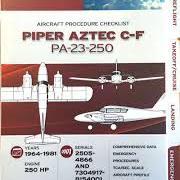 Piper Aztec Check-list