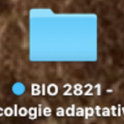 BIO 2821 - Écologie Adaptative