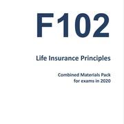 F102 Life Insurance Principles