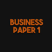 A Level Business Studies Paper 1