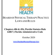 Florida Physical Therapy Laws and Rules (2020)
