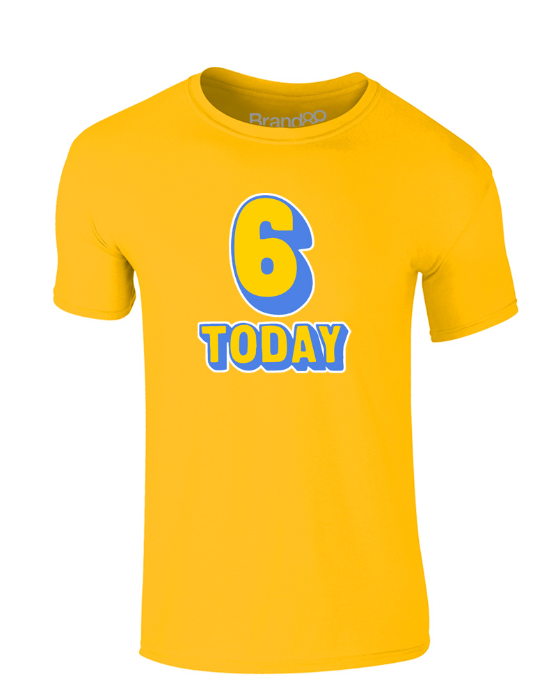 Brand88-6th-Birthday-Kids-Printed-T-Shirt