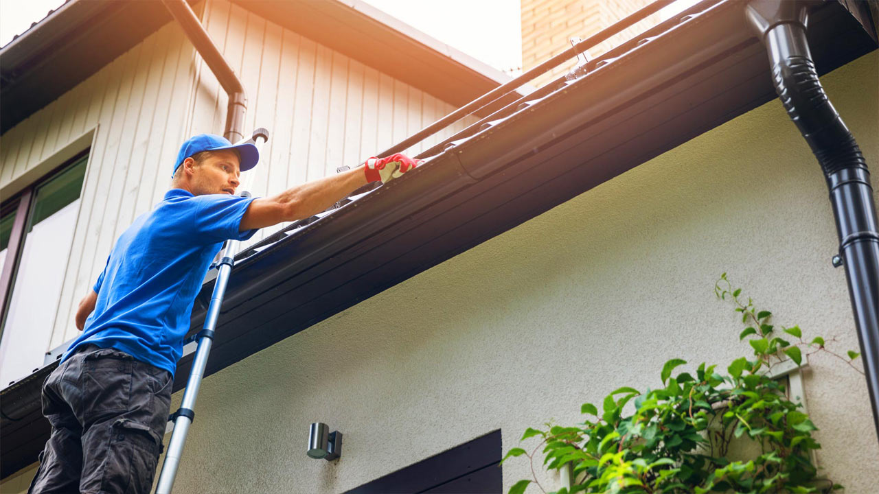 Gutter install cleaning