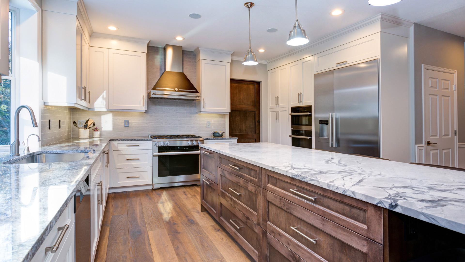 Hero kitchen marble counters