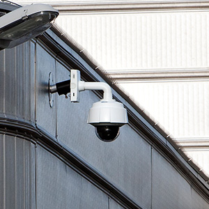Security camera at business