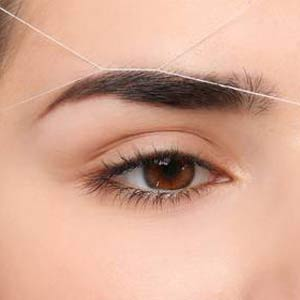 Eyegrow threading
