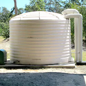 Water tank install
