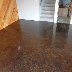 Staining concrete