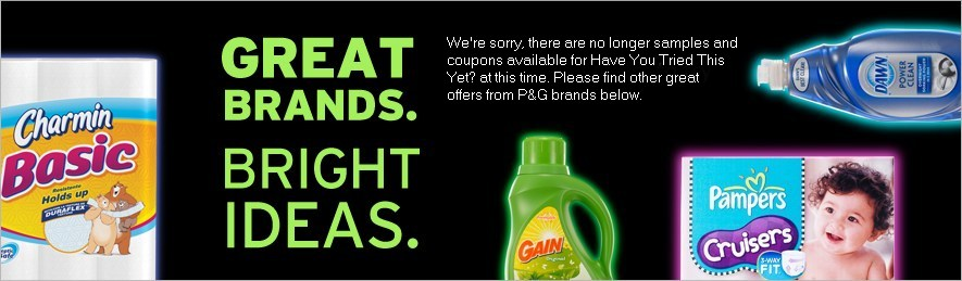 Great Brands. Bright Ideas. Get amazing offers and coupon savings to try these products today!