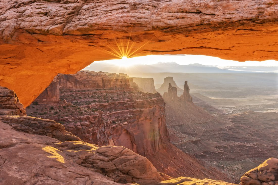 Mesa Arch In Canyonlands At Sunrise
