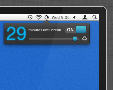 BreakTime Status Item Screenshot