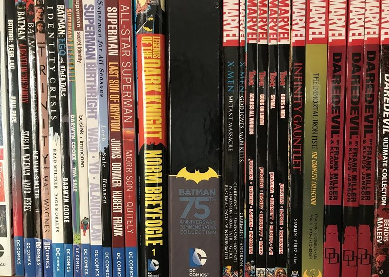 Comics in a shelf