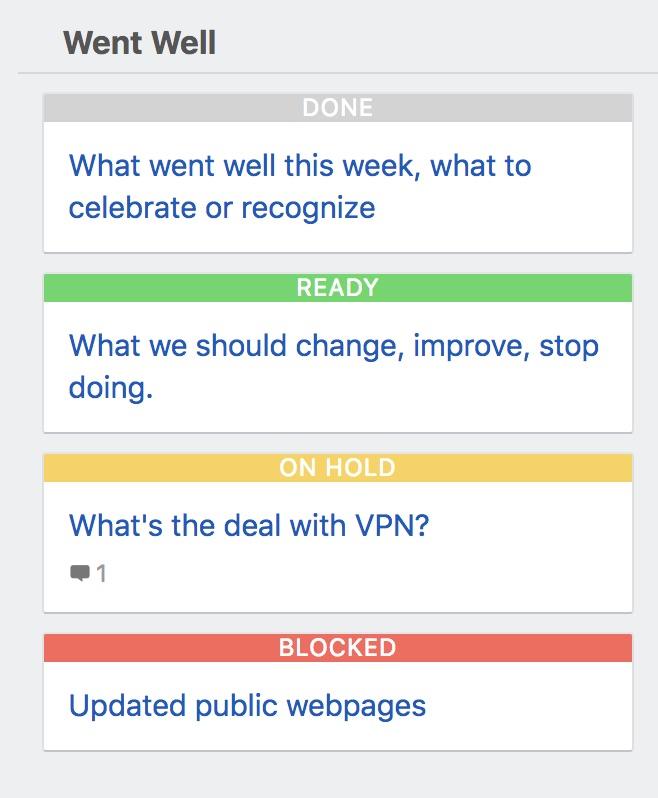 Task status colors