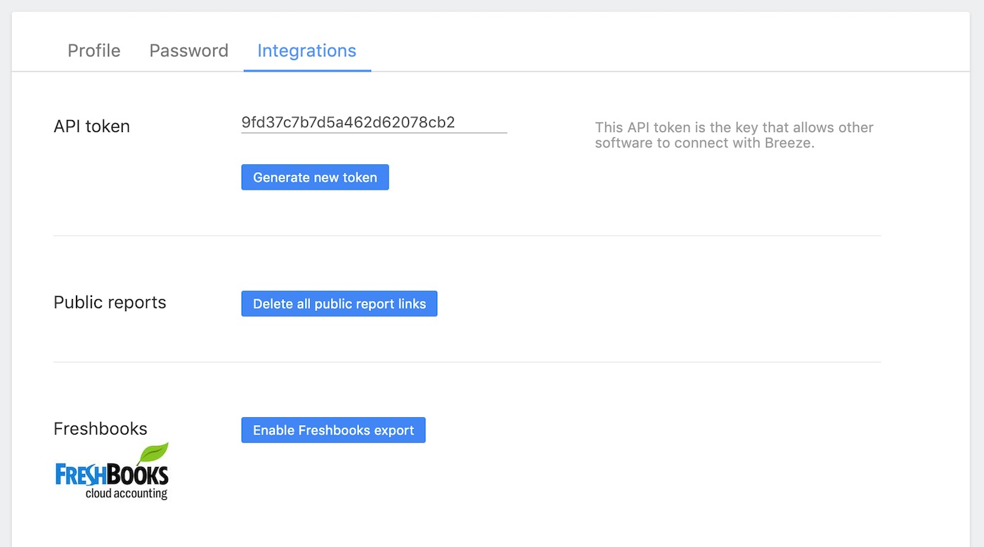 Enable Freshbooks integration