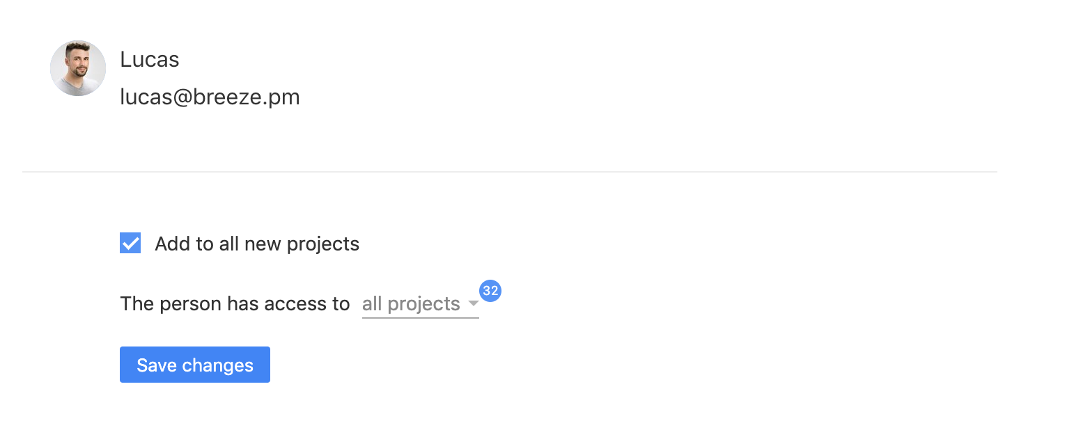 Add users to all projects