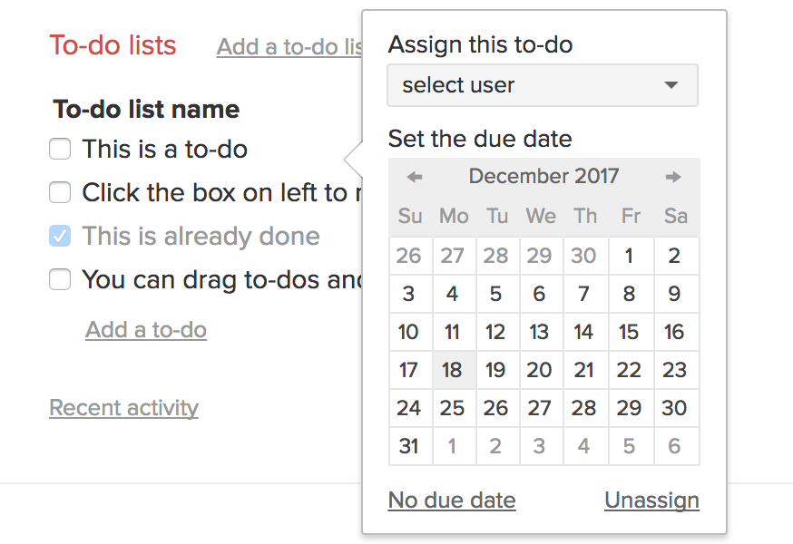 Assign to-do
