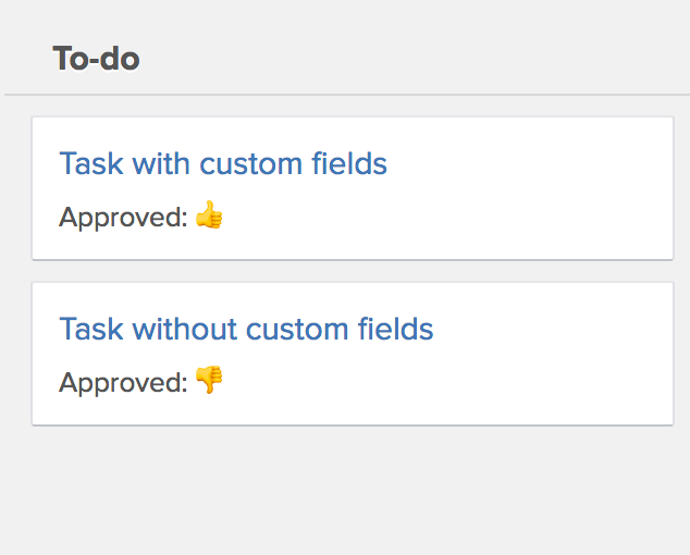 Tasks with approved status