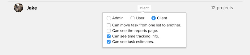 Hide time tracking from clients