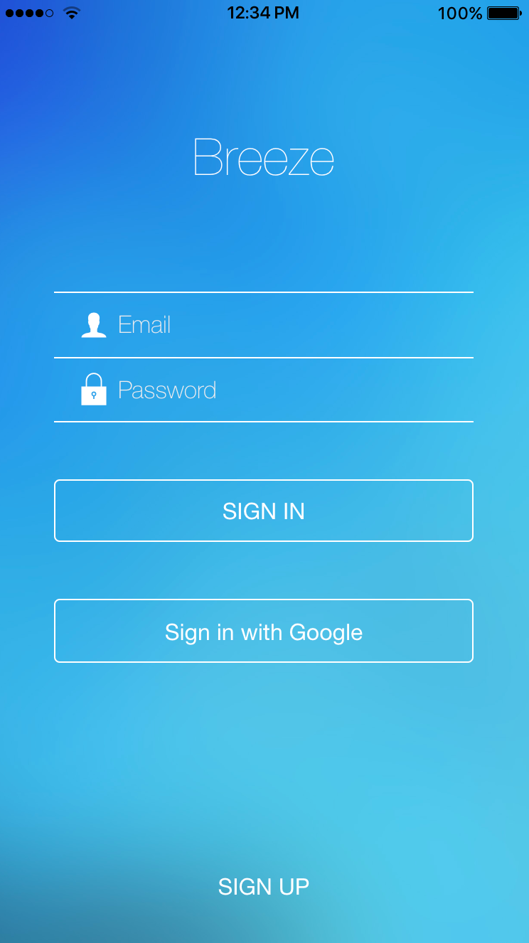 Mobile app log in with Google account