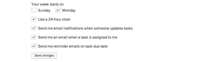 task due date email