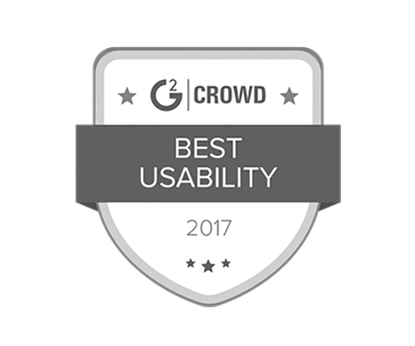 Best Usability, 2017 - G2 Crowd