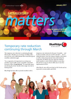 Membership MattersJanuary 2017