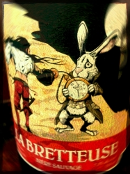 La Bretteuse Brassin Special (from Le Trou de Diable) is as wild as its label. #brewvu http://t.co/V45SSF626e