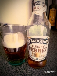 Badgers Fursty Ferret to start, #brewvu this ones for a mate who's mrs just gave birth to a beautiful baby girl 😃 http://t.co/vt4TtQmt