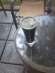 Home brewed porter in our new patio #brewvu http://t.co/OqQHwz4V