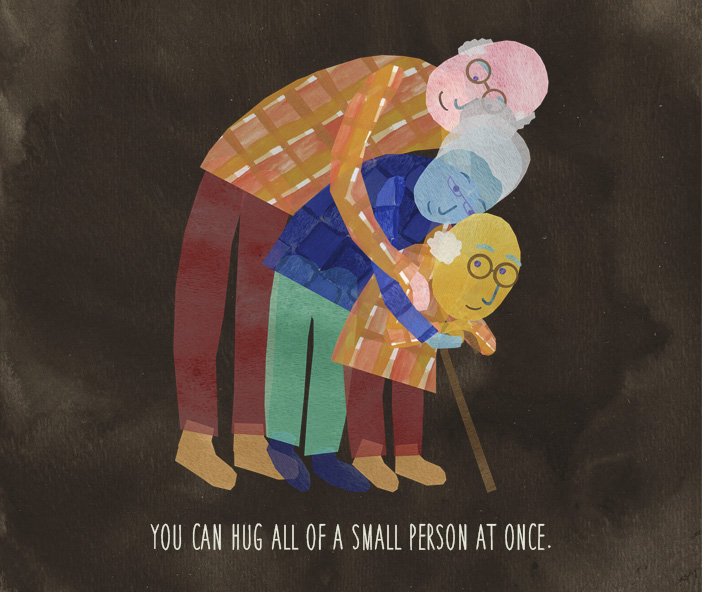 You can hug all of a small person at once.