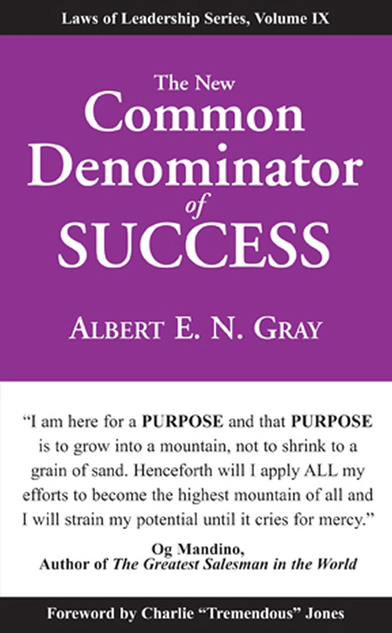 The Common Denominator of Success Book Cover