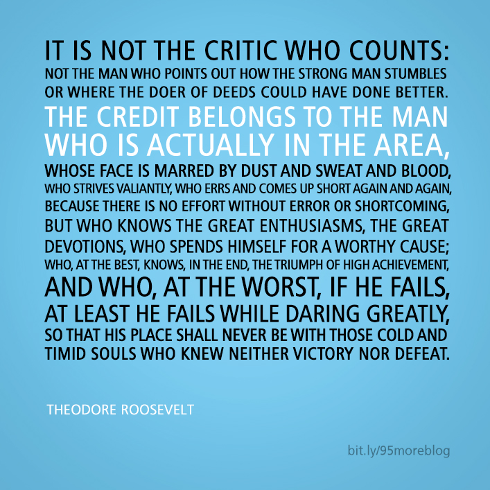 Not the critic who counts