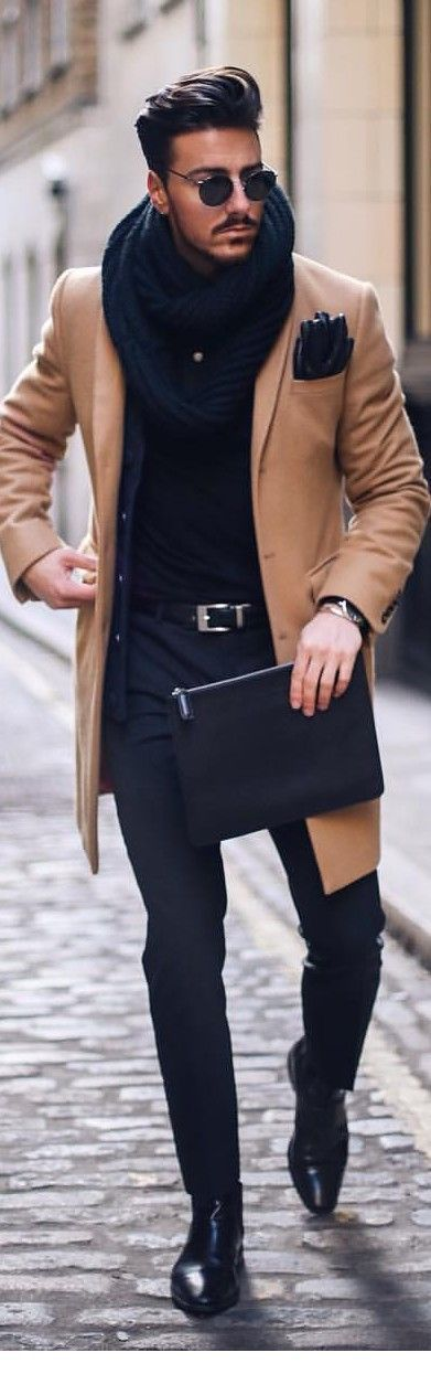 Formal Camel Overcoat for the Winter