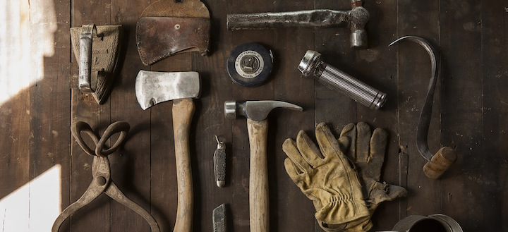 Construction work carpenter tools 1 original