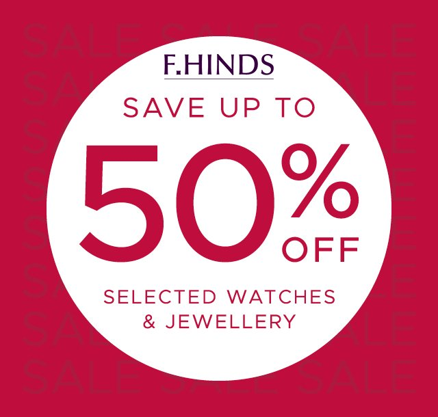 F.Hinds 50% Off Summer Sale