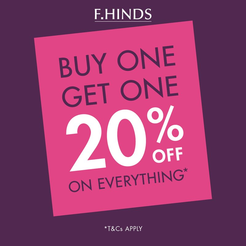 F.Hinds 20% offer square image