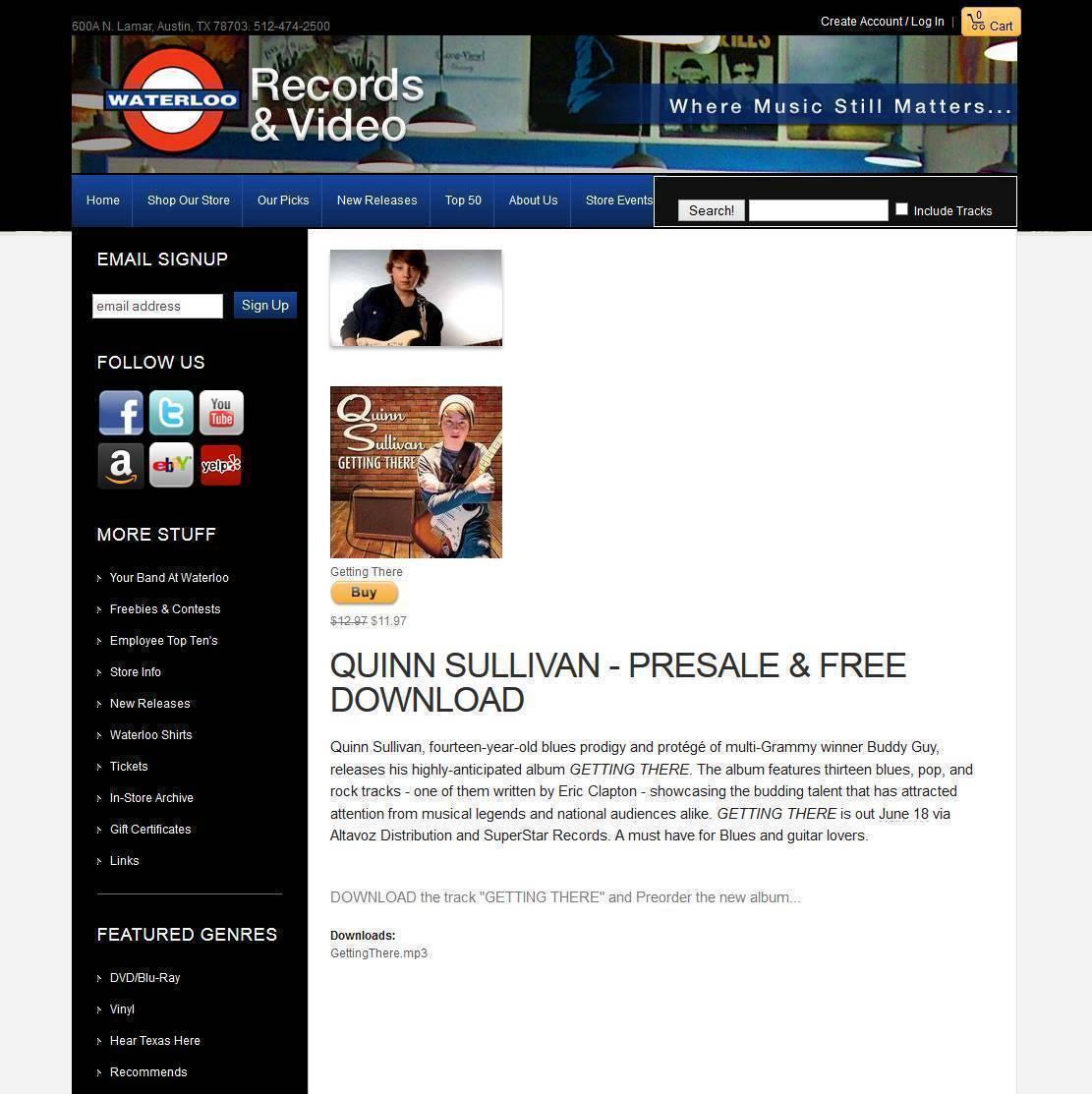 MP3 - Web Promo Page