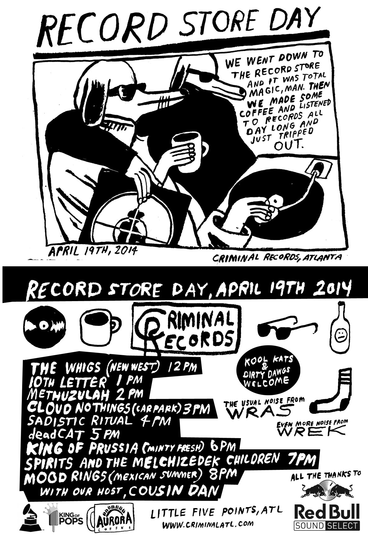 Record Store Day, April 19th, 2014