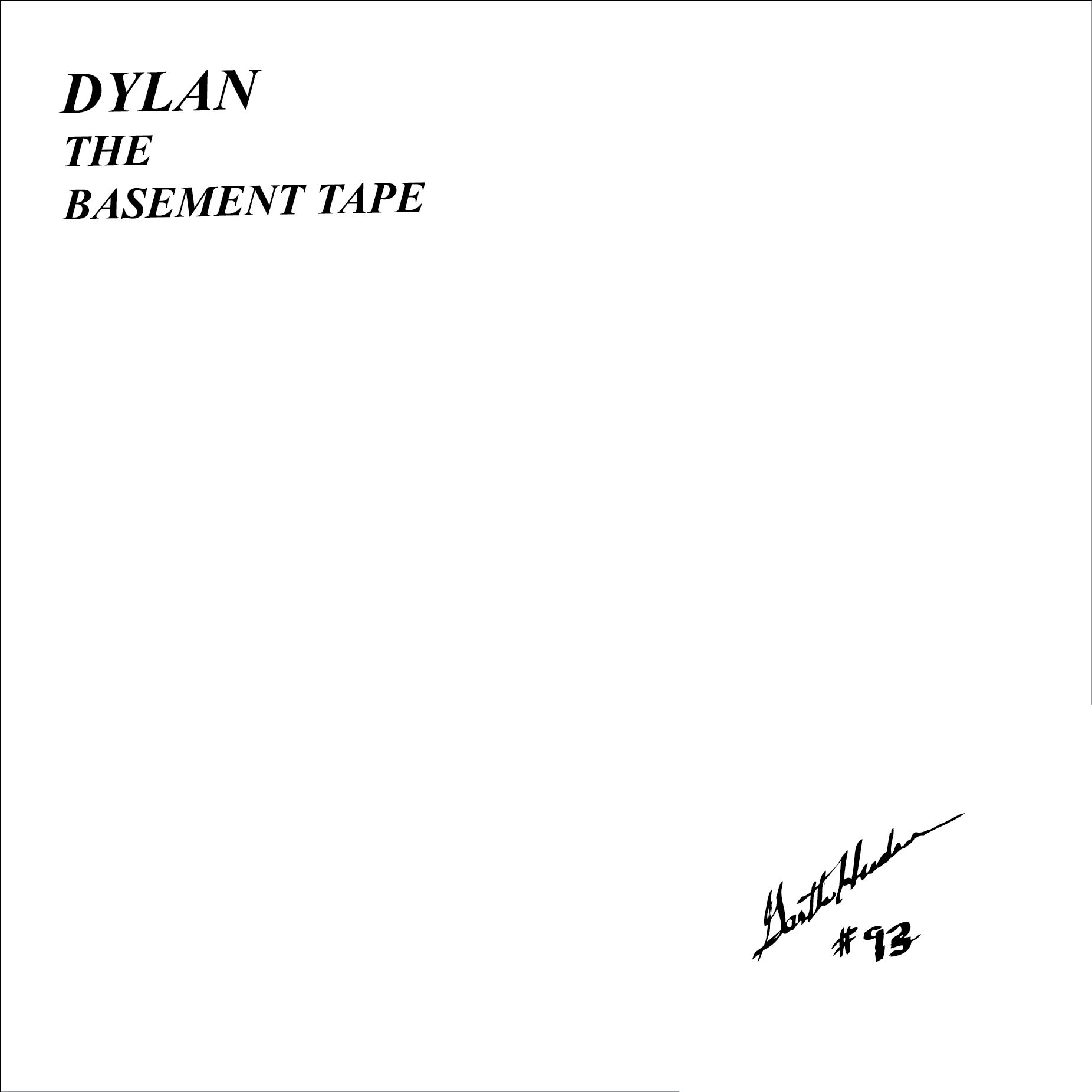 bob dylan basement tapes lp record store day