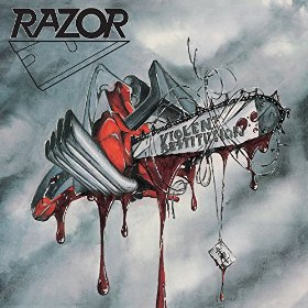 Razor - Violent Restitution (White Splatter Vinyl)