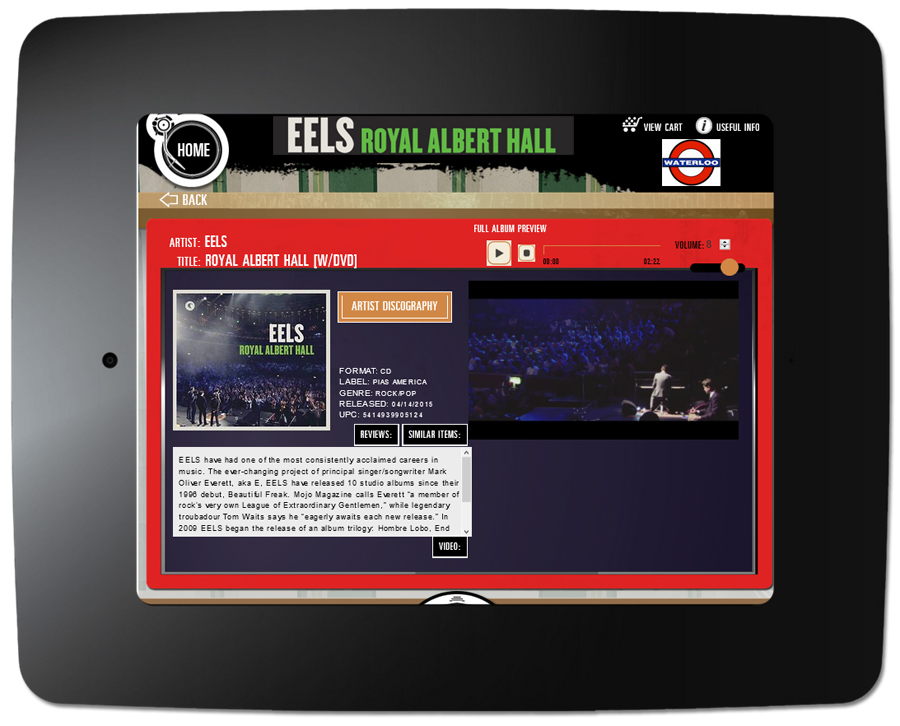 Eels - Kiosk Item Page With Video