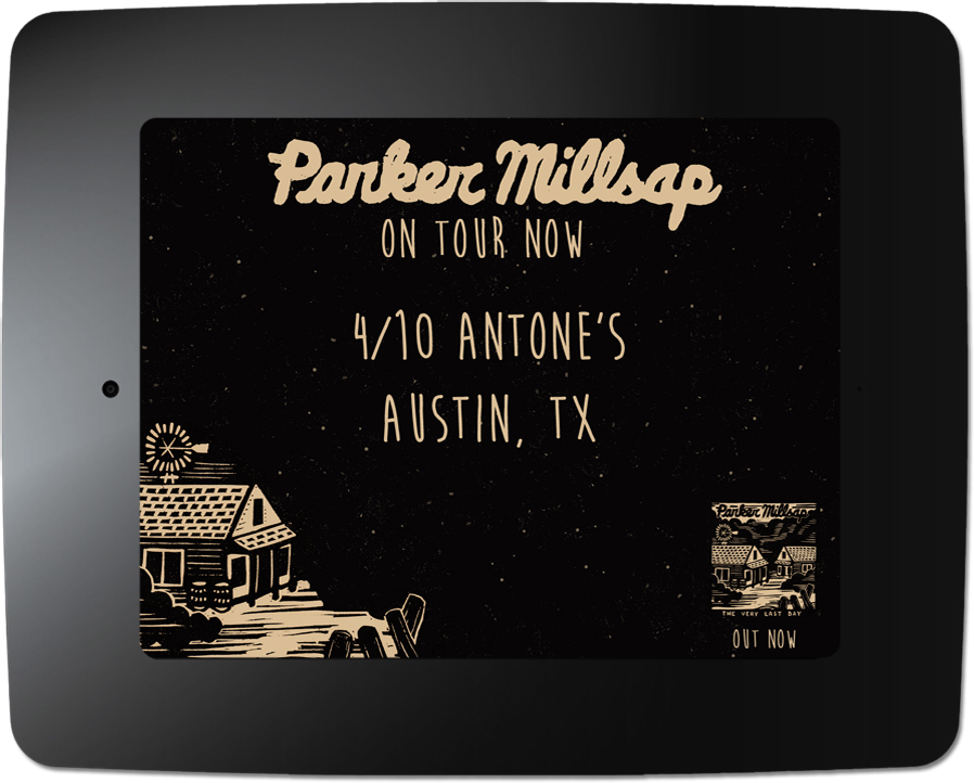 Parker Millsap - Kiosk Screen Saver - Tour Date